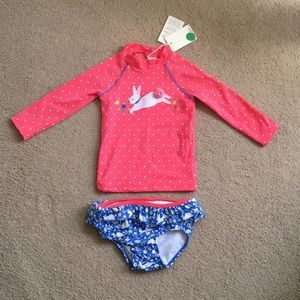 [NWT] Baby Boden bunny bathing suit SZ 6-12 mo